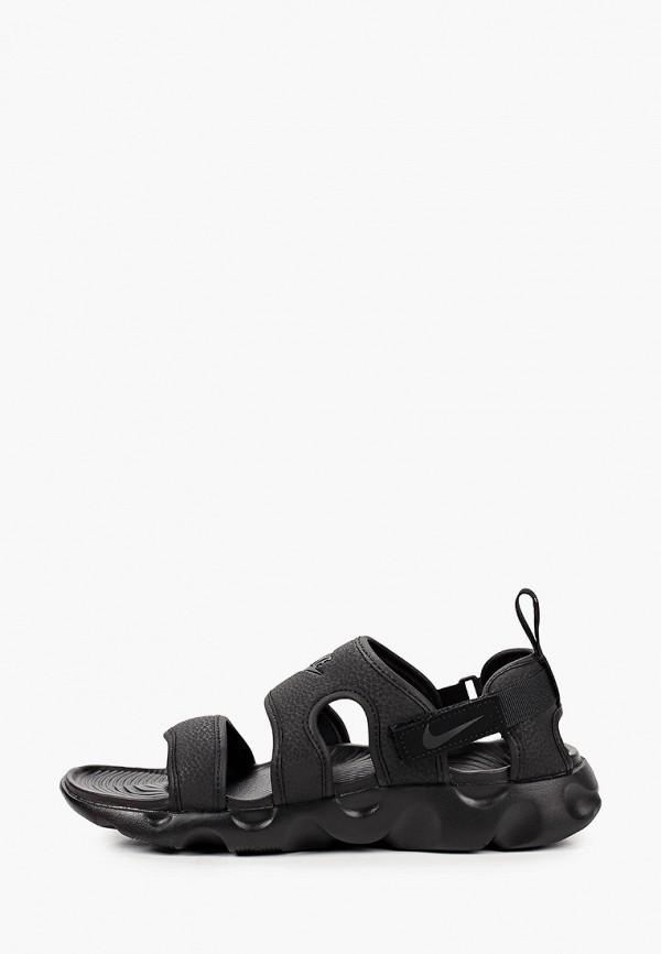 женские сандалии nike, черные