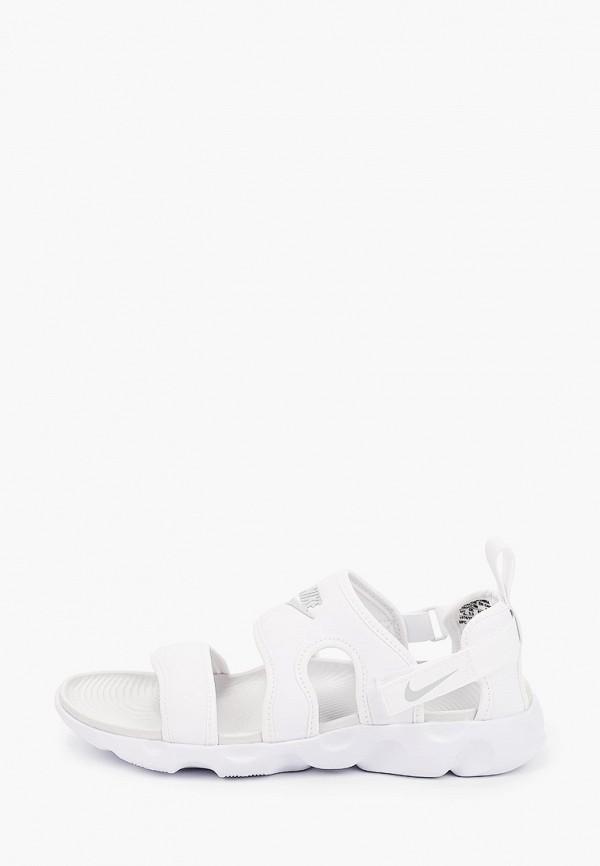 женские сандалии nike, белые