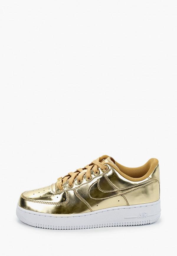 Кроссовки Nike W AIR FORCE 1 SP. Цвет: золотой