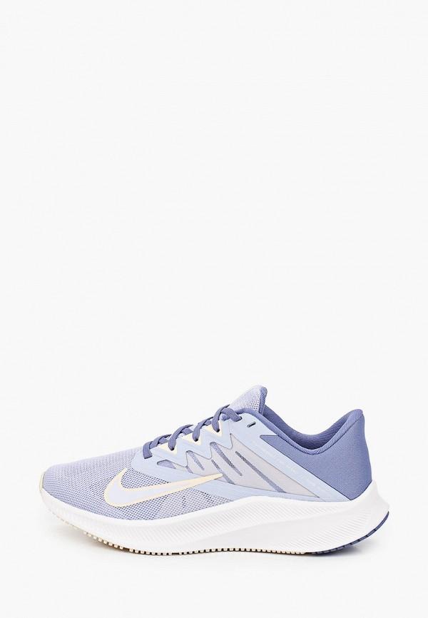 женские низкие кроссовки nike, голубые