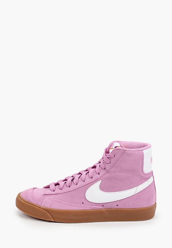 женские кеды nike, розовые