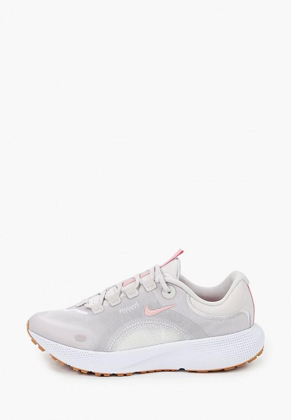 женские низкие кроссовки nike, серые