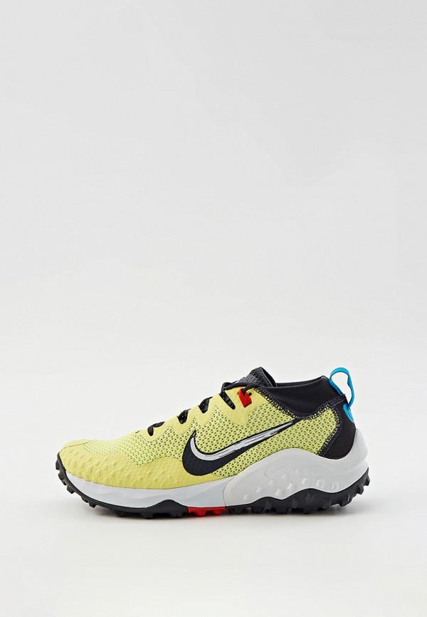 женские низкие кроссовки nike, желтые