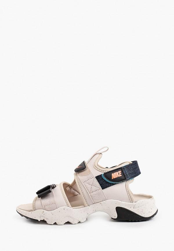 женские сандалии nike, бежевые