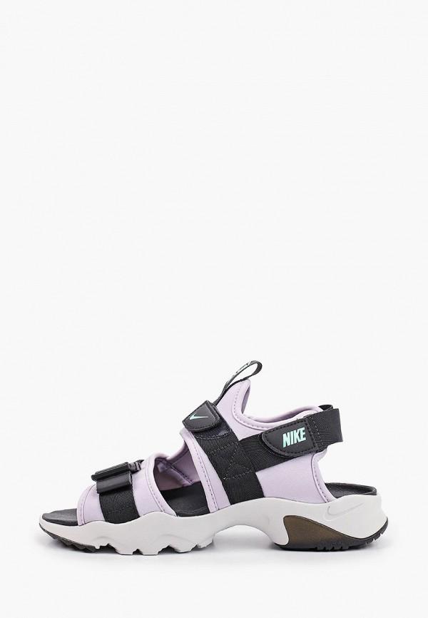 женские сандалии nike, фиолетовые