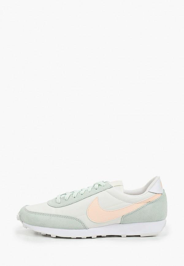 женские низкие кроссовки nike, зеленые