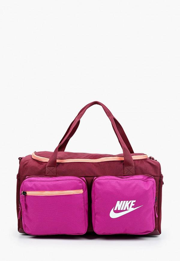 сумка nike для девочки, бордовая