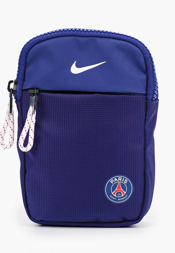 мужская сумка через плечо nike, синяя