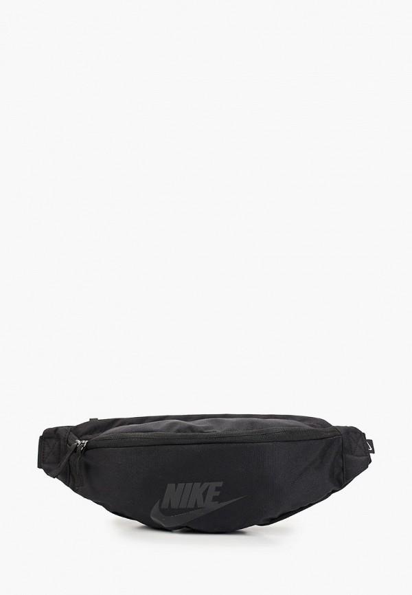 Фото - Сумку поясная Nike черного цвета