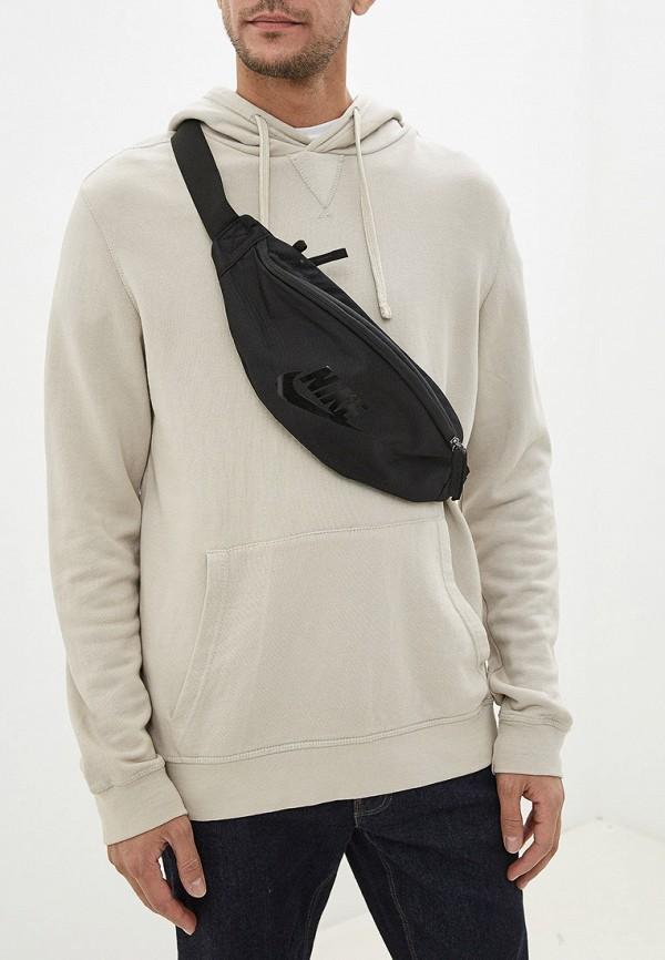 Фото 5 - Сумку поясная Nike черного цвета