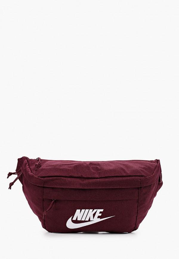 женская сумка nike, бордовая