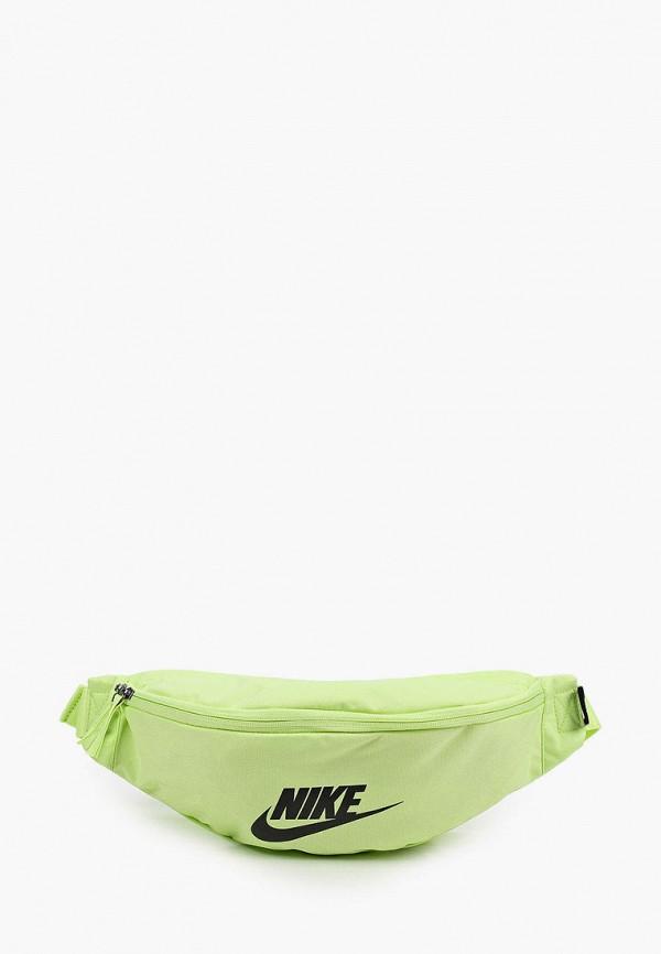 женская поясные сумка nike, зеленая