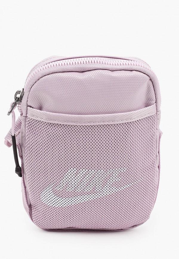 женская сумка через плечо nike, фиолетовая