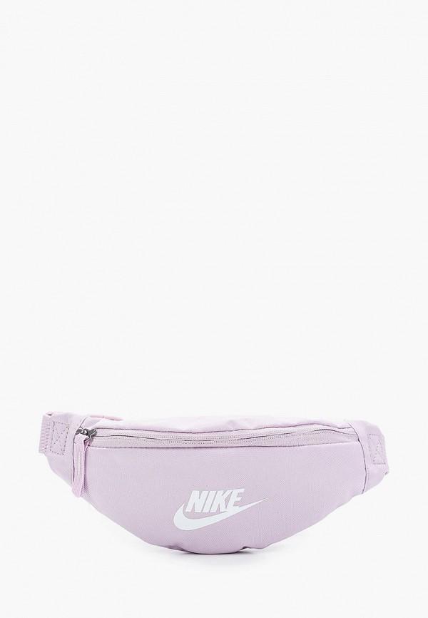 женская поясные сумка nike, фиолетовая