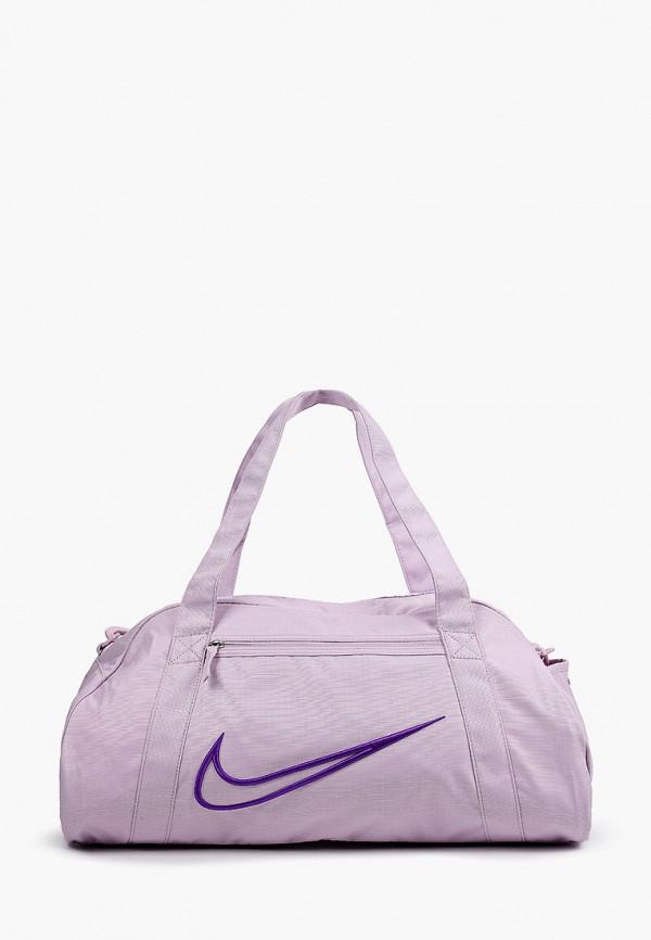 женская спортивные сумка nike, фиолетовая