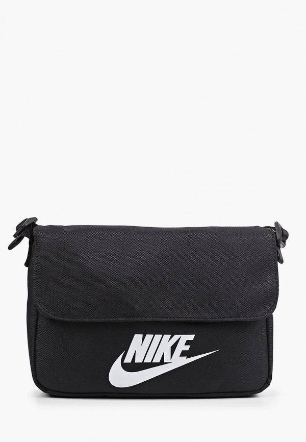 женская сумка через плечо nike, черная