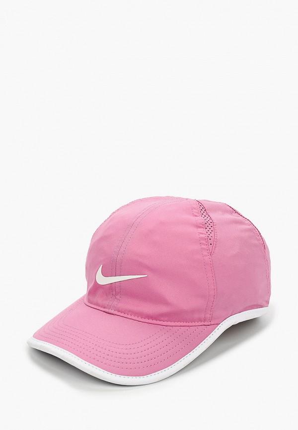 бейсболка nike для девочки, розовая