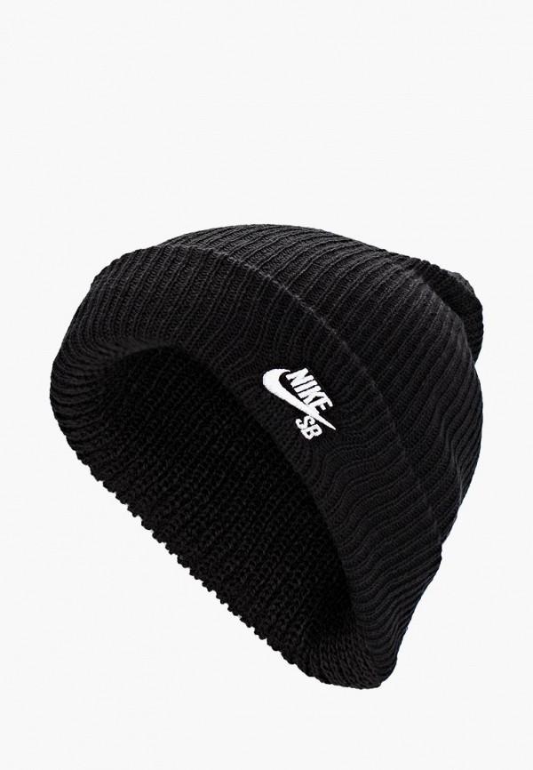 женская шапка nike, черная