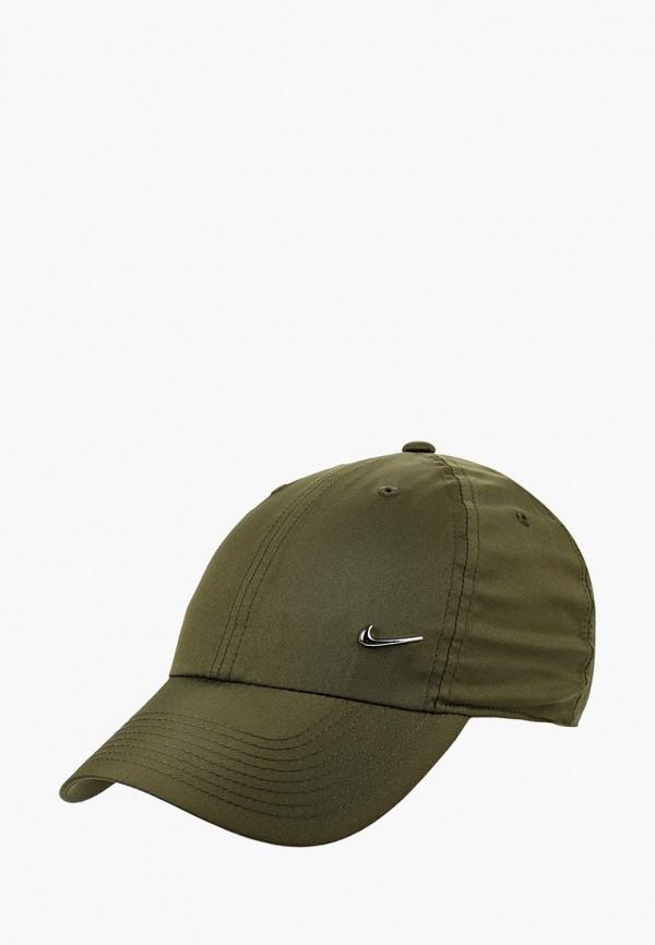 Купить Бейсболка Nike, U NK H86 CAP METAL SWOOSH, ni464cucmee4, хаки, Осень-зима 2018/2019