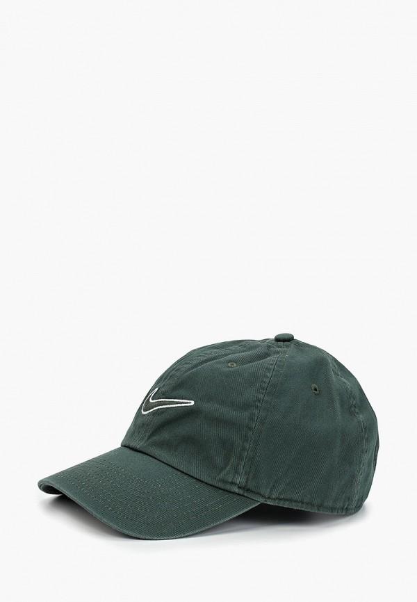 женская бейсболка nike, зеленая