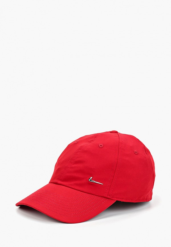 женская бейсболка nike, красная