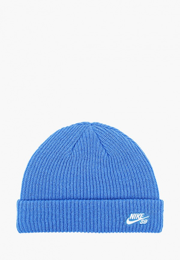 женская шапка nike, голубая