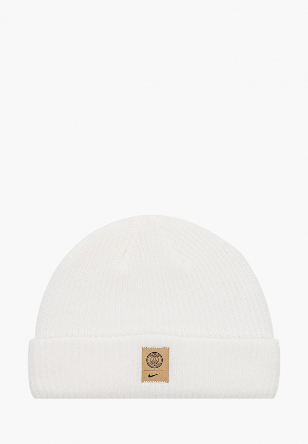 женская шапка nike, белая