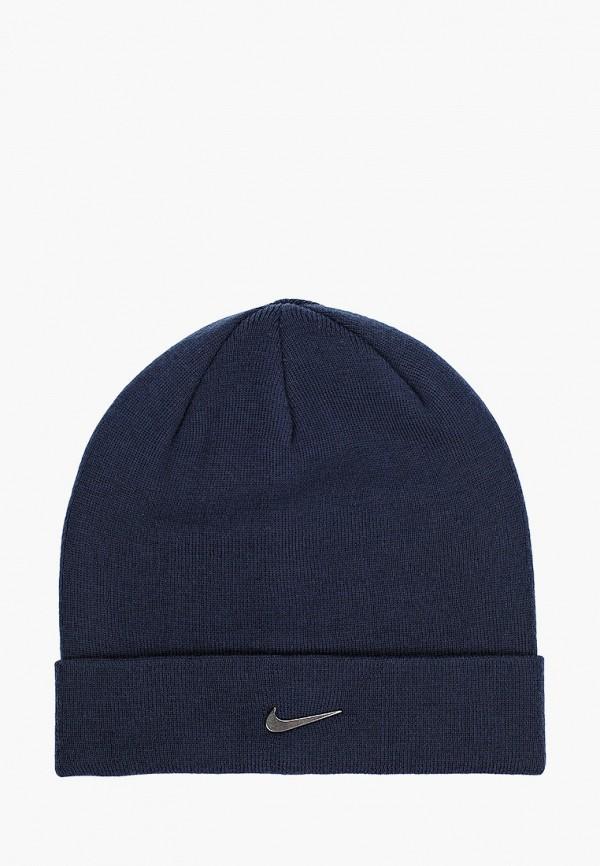 женская шапка nike, синяя