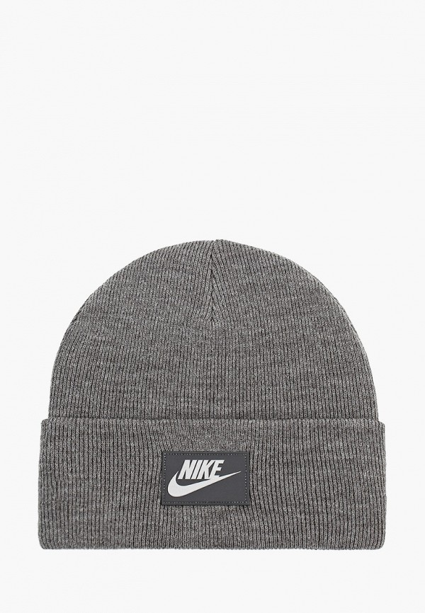 женская шапка nike, серая