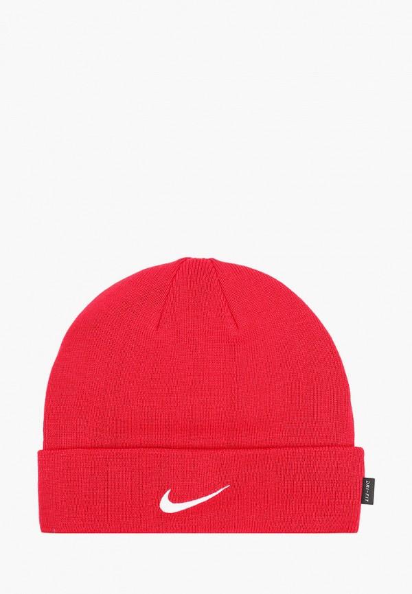 женская шапка nike, красная