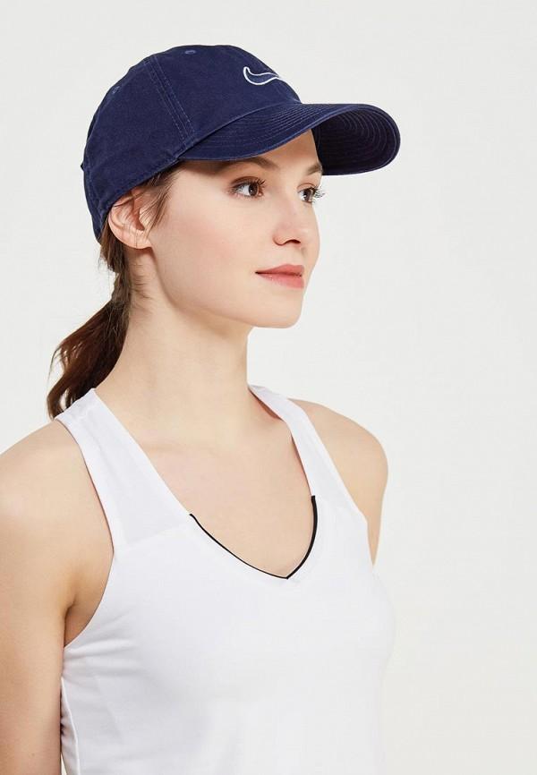 Фото 4 - Бейсболка Nike синего цвета