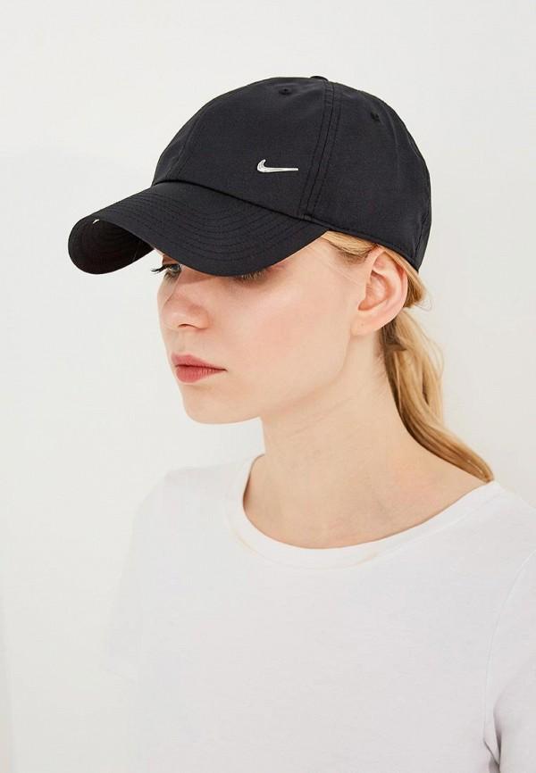 Фото 4 - Бейсболка Nike черного цвета
