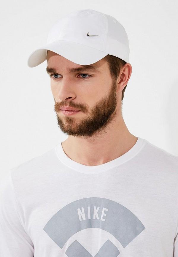Фото 5 - Бейсболка Nike белого цвета