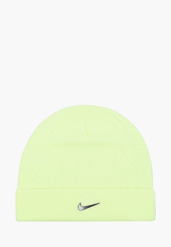 женская шапка nike, желтая