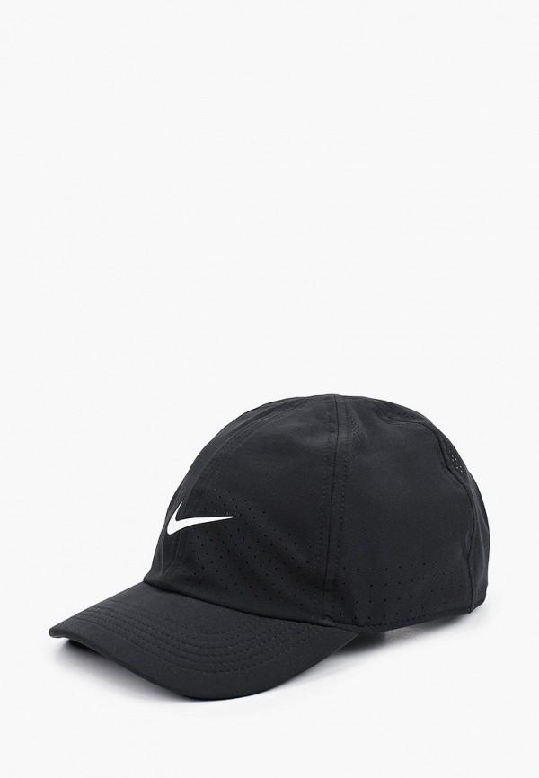 женская бейсболка nike, черная