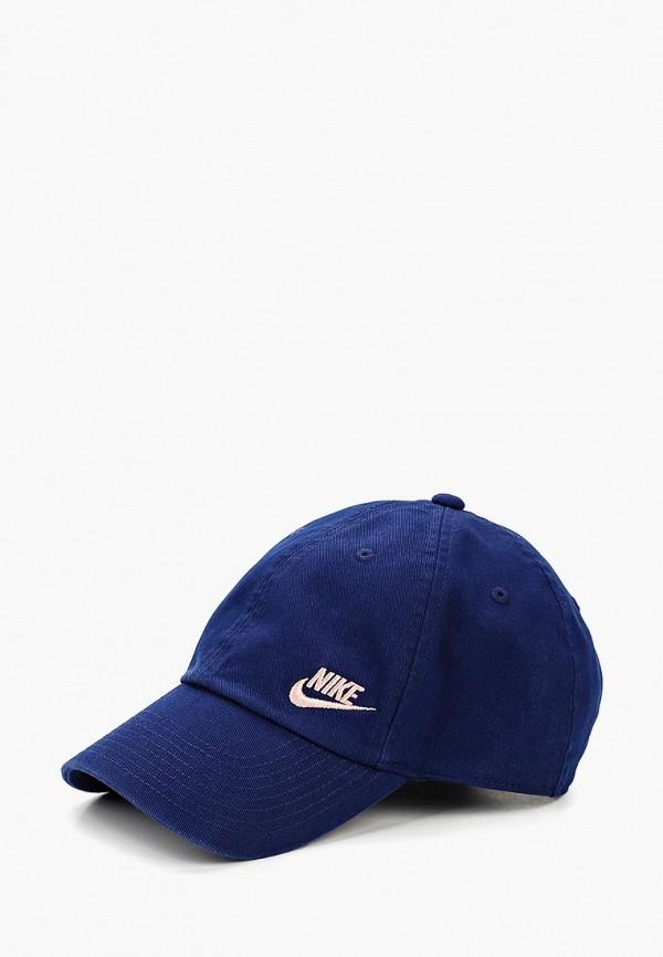 женская бейсболка nike, синяя