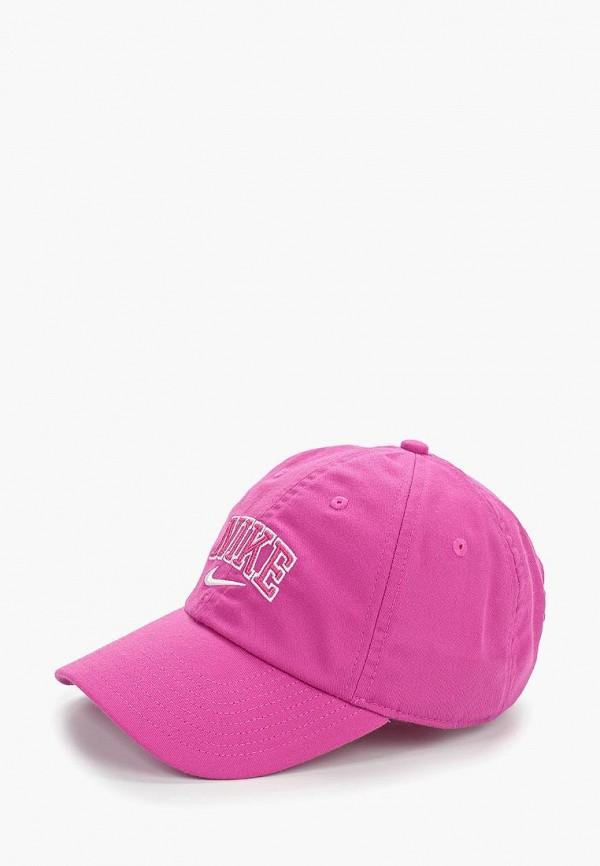 женская бейсболка nike, розовая