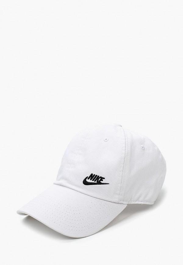 Купить Бейсболка Nike, W NK H86 CAP FUTURA CLASSIC, NI464CWRYL67, белый, Весна-лето 2018