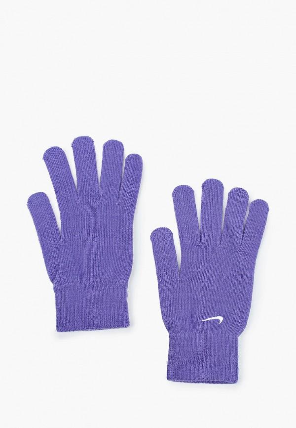 женские текстильные перчатки nike, фиолетовые