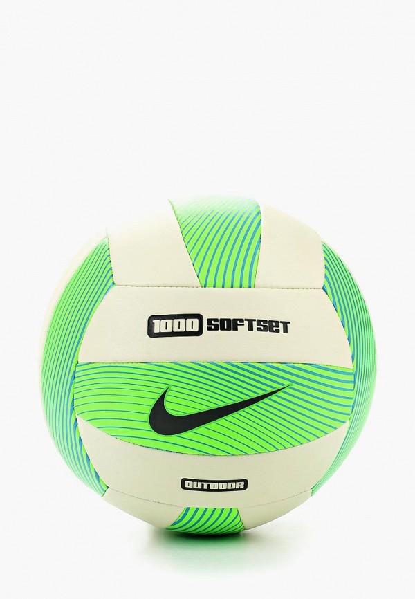 Мяч волейбольный Nike, NIKE 1000 SOFTSET OUTDOOR VOLLEYBALL INFLATED WITH BOX, NI464DURRA63, зеленый, Весна-лето 2017  - купить со скидкой