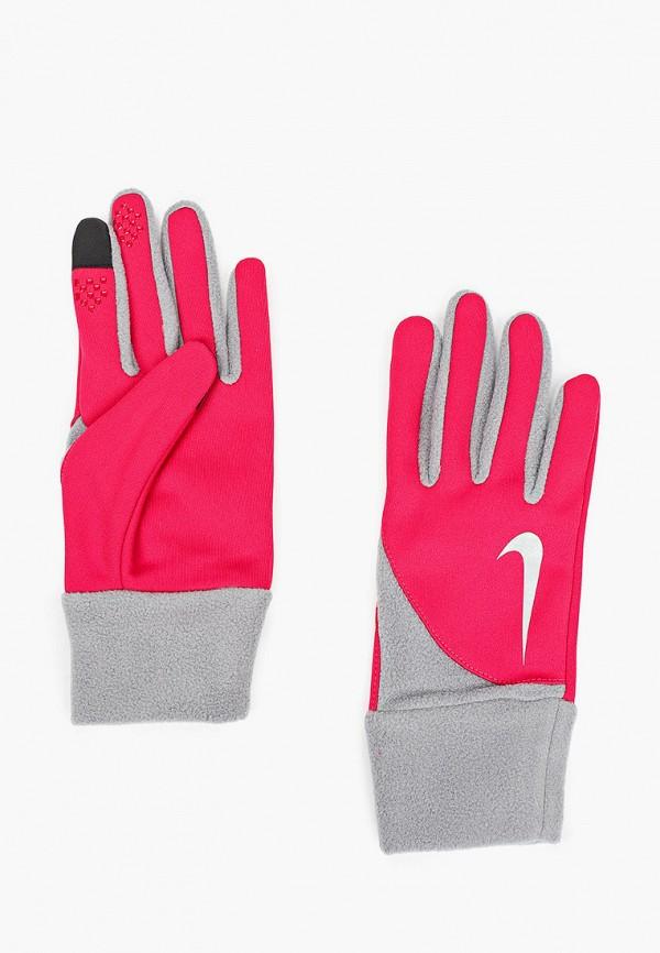 женские перчатки nike, розовые