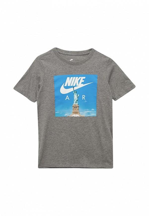 Купить Футболка Nike, B NSW TEE NIKE AIR LIBERTY, ni464ebabaz0, серый, Весна-лето 2018