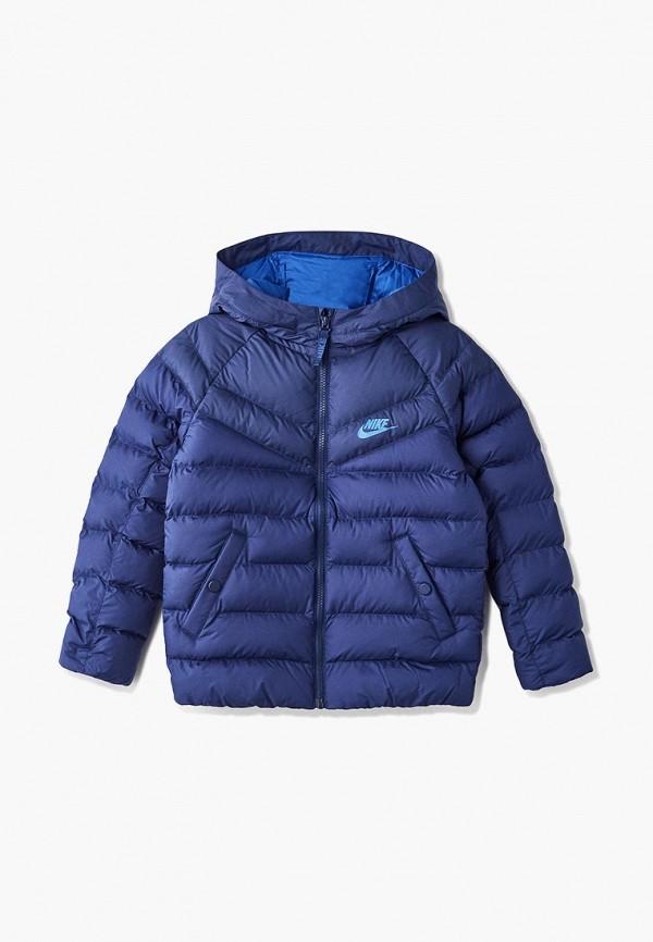 Купить Куртка утепленная Nike, Nike Sportswear Boys' Hooded Jacket, ni464ebbymu2, синий, Осень-зима 2018/2019