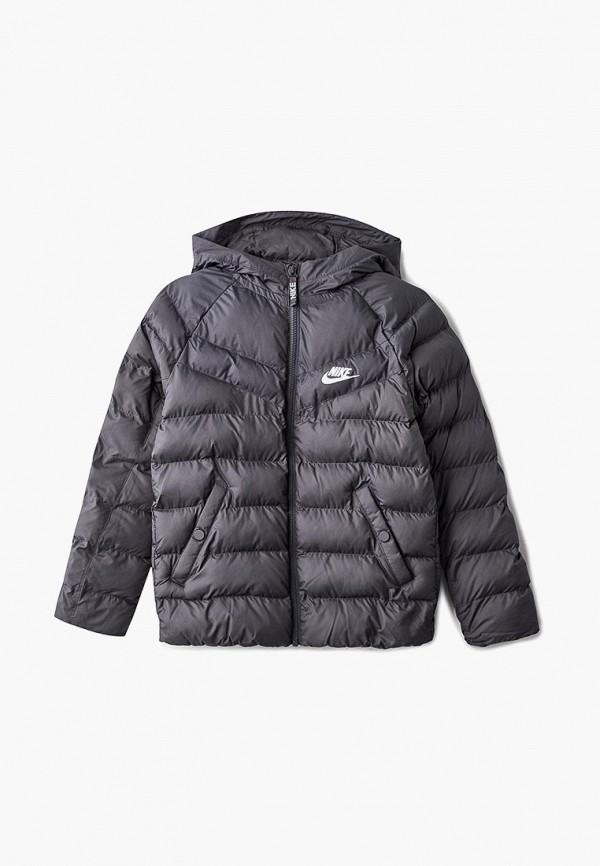 Купить Куртка утепленная Nike, Nike Sportswear Boys' Hooded Jacket, ni464ebbymx7, серый, Осень-зима 2018/2019