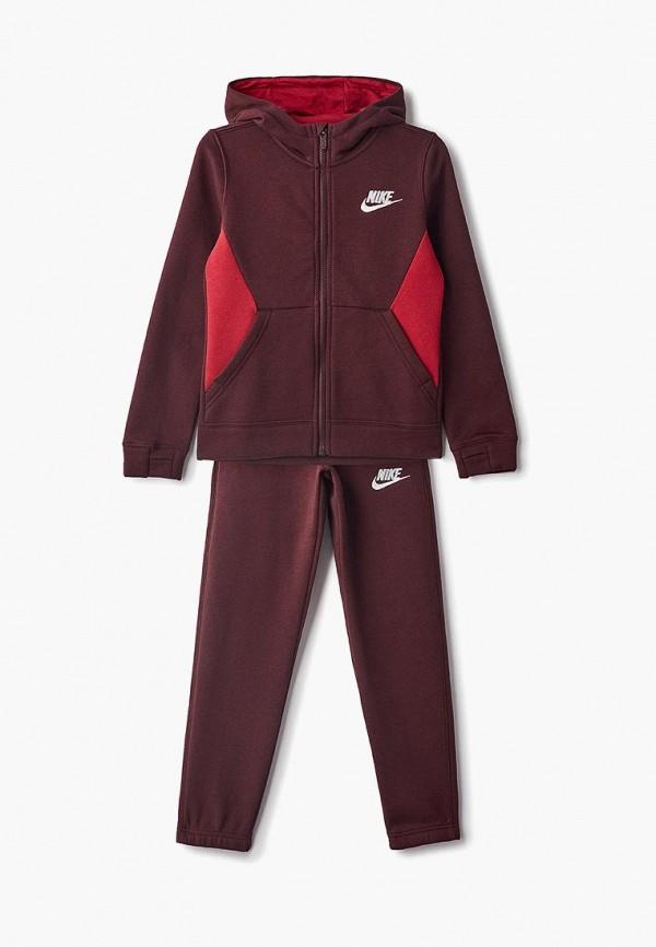 спортивные спортивный костюм nike для мальчика, бордовый