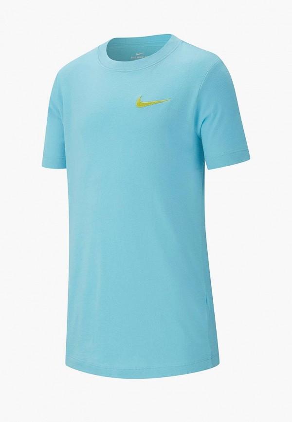 Купить Футболка Nike, B NSW TEE EMB SWOOSH, ni464ebdslb4, голубой, Весна-лето 2019