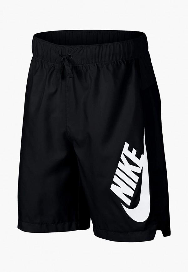 спортивные спортивные шорты nike для мальчика, черные