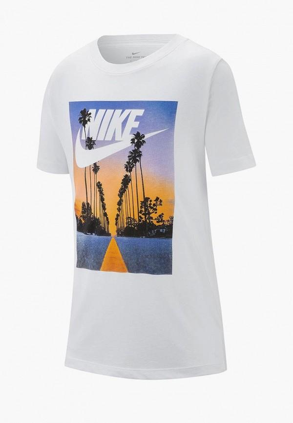 Купить Футболка Nike, B NSW TEE PALM TREE+FUTURA, ni464ebdslc9, белый, Весна-лето 2019