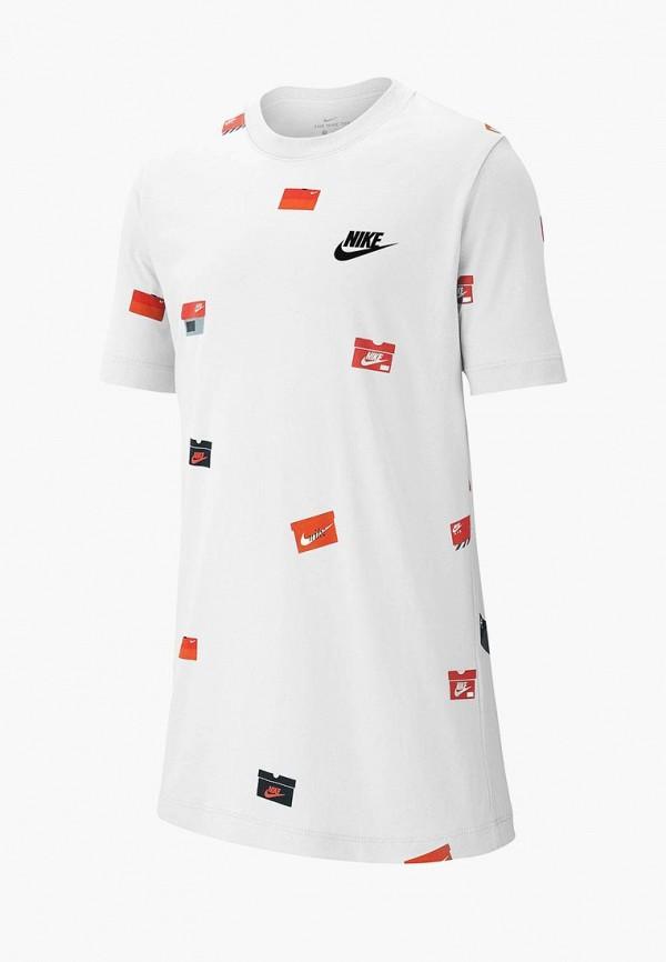 футболка nike для мальчика, белая