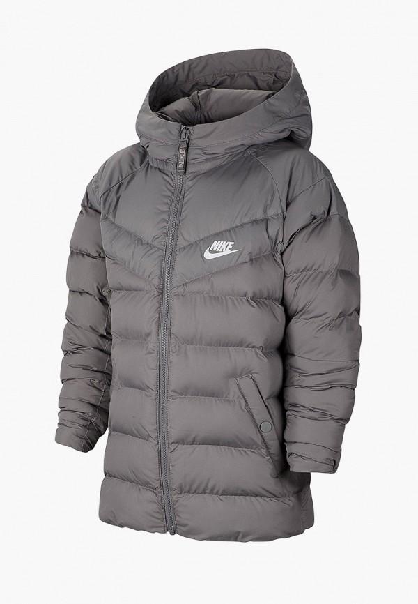 Фото - Куртку утепленная Nike серого цвета